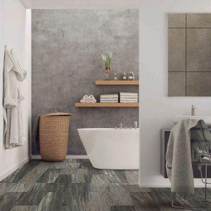 Bathroom view with Vinyl flooring | Kopp's Carpet & Decorating