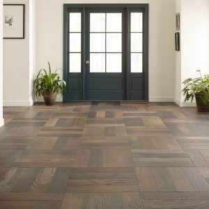Old world herringbone hardwood flooring | Kopp's Carpet & Decorating