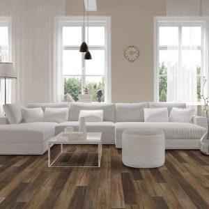 Vinyl flooring in living room | Kopp's Carpet & Decorating