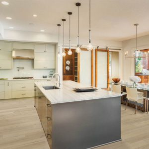 Kitchen with Vinyl flooring | Kopp's Carpet & Decorating
