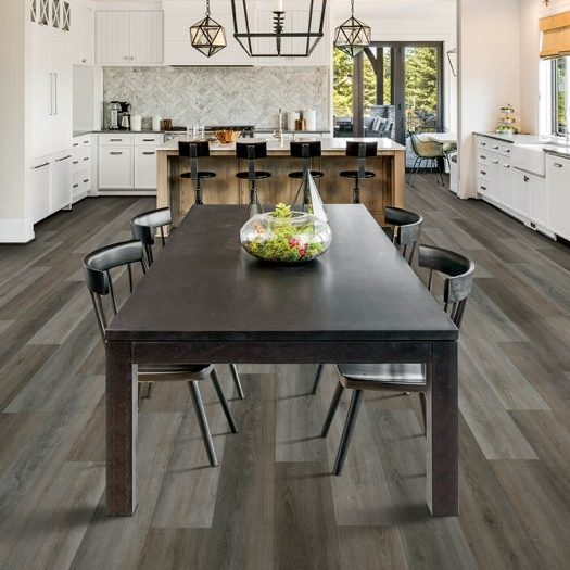 Laminate flooring in dining room | Kopp's Carpet & Decorating
