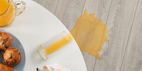 Juice spill on Vinyl floor | Kopp's Carpet & Decorating