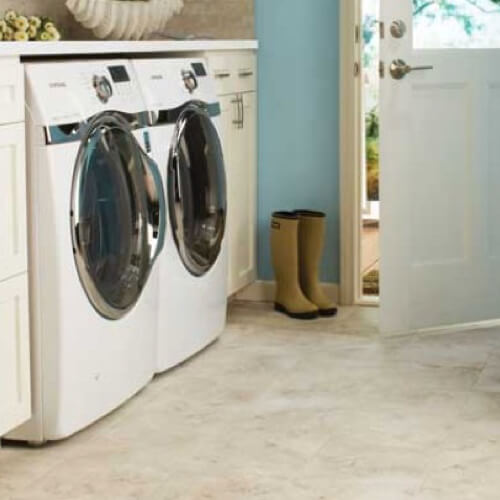 Tile laundry room | Kopp's Carpet & Decorating