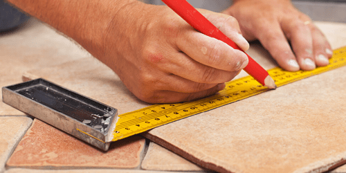 Tile installation with proper measurements | Kopp's Carpet & Decorating