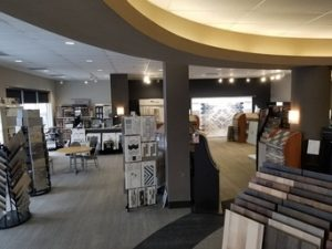 Variety of flooring products in showroom | Kopp's Carpet & Decorating